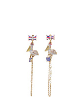 Betsey Johnson - Ivy League Pelican Purse Earrings