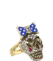 Betsey Johnson - Ivy League Crystal Skull Ring