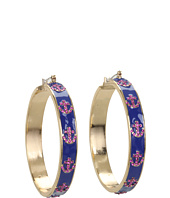 Betsey Johnson - Ivy League Anchor Hoop Earrings