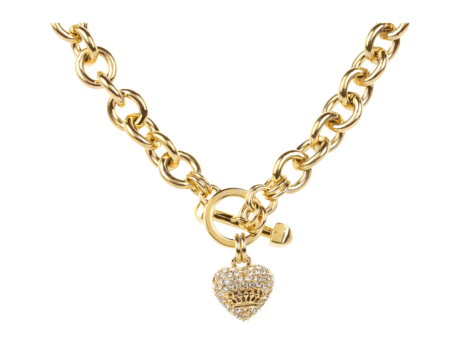 Juicy couture juicy pave icon necklace rose gold shipped for Juicy couture jewelry necklace