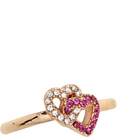 Juicy Couture - Pave Heart Adjustable Ring