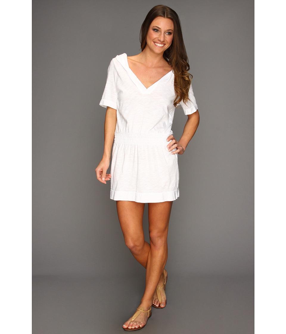 Speedo Hooded Cover-Up (White) Women