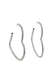 Juicy Couture - Pave Heart Hoop Earings