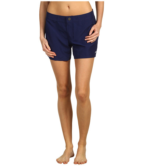 Cheap Speedo Elastic Back Waist Boardshort W Zip Pocket Nautical Navy