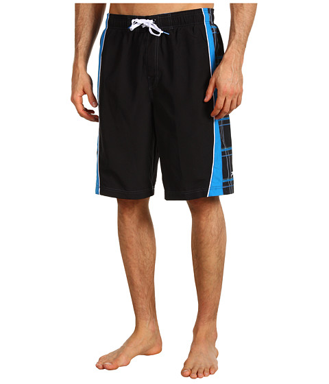 Shop Speedo - Classic Plaid Splice Volley Short Black  and Speedo online - Men, Clothing, Swimwear, Swimsuit Bottoms online Store