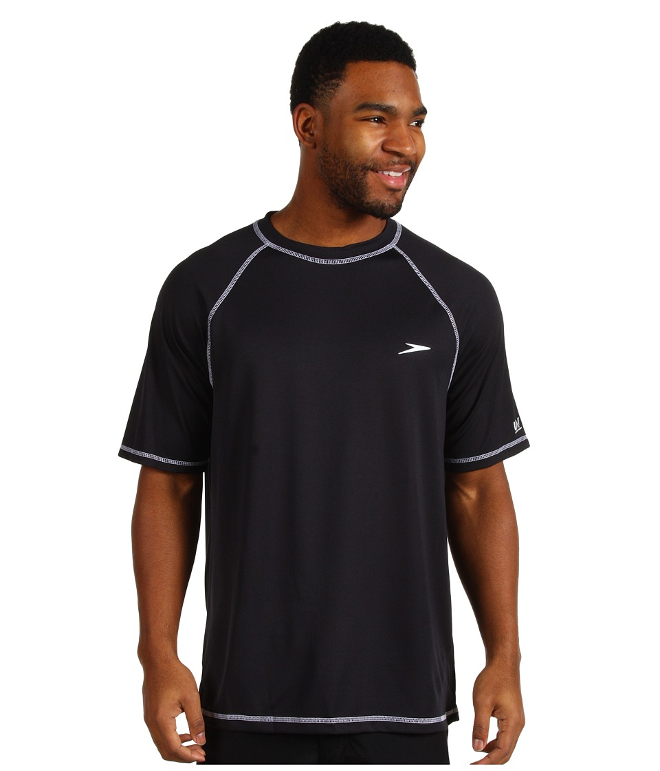 Speedo - Easy S/S Swim Tee (Black) Mens Swimwear
