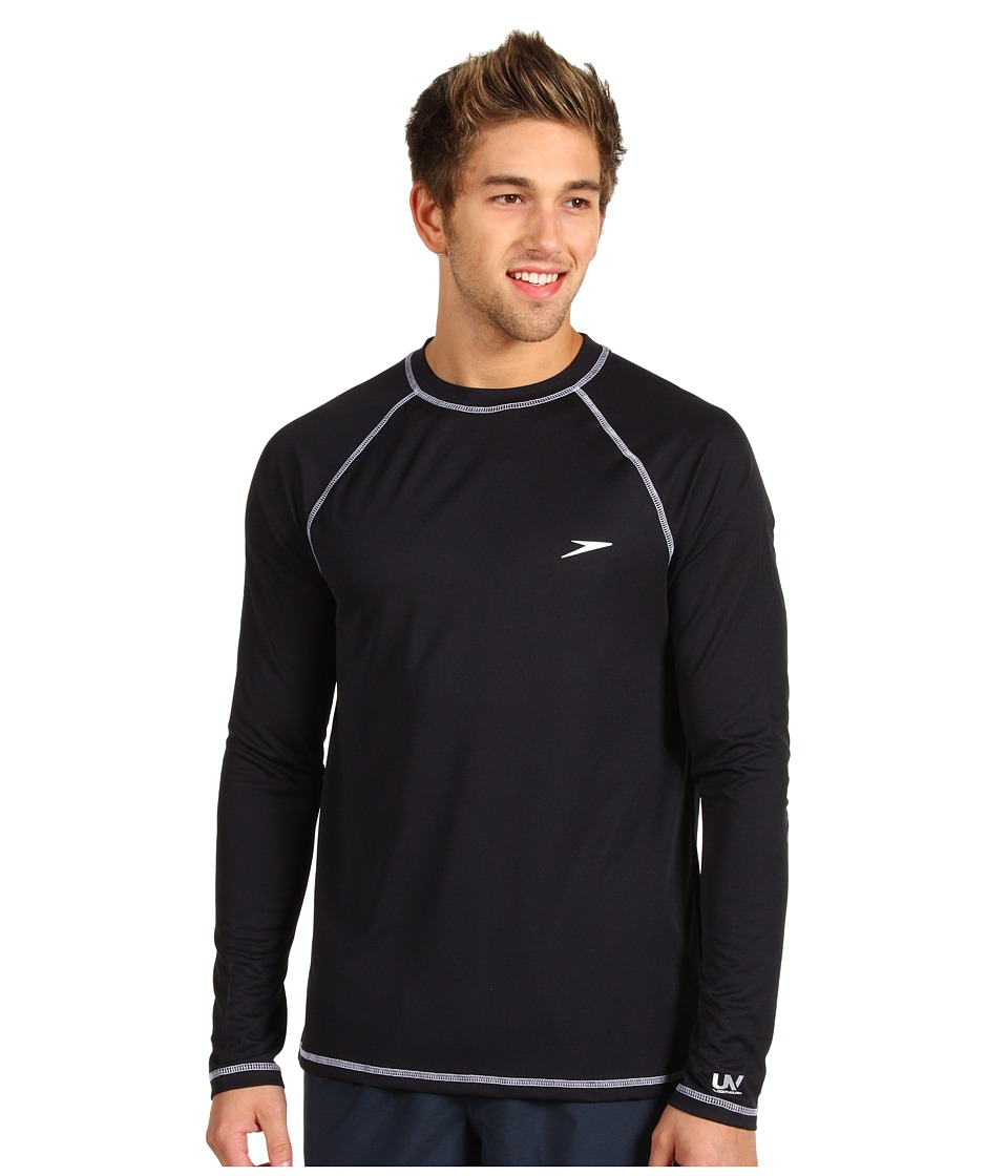 Speedo - Easy L/S Swim Tee (Black) Mens Swimwear