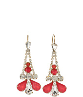 Juicy Couture - Rhinestone Fan Earrings
