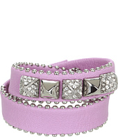 Juicy Couture - Leather Double Wrap Pyramid Bracelet