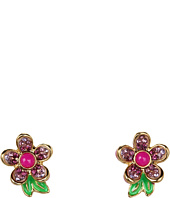 Juicy Couture - Colorful Pave Flower Stud Earrings