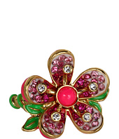 Juicy Couture - Pave Flower Adjustable Ring