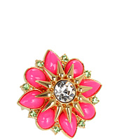 Juicy Couture - Cabochon Flower Adjustable Ring
