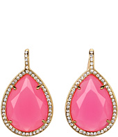 Juicy Couture - Pave Teardrop Drop Earrings