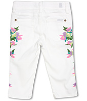 7 For All Mankind Kids - Girls' Cropped Skinny Floral Embroidery in Clean White (Little Kids)