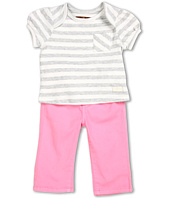 7 For All Mankind Kids - Girls' Stripe Jersey Tee & Pull-On Pant Gift Set (Infant)