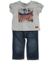7 For All Mankind Kids - Boys' Photo Real Printed Tee & Dark Indigo Jean (Infant)