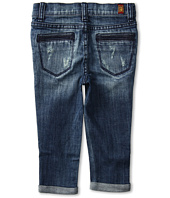 7 For All Mankind Kids - Girls' Skinny Crop & Roll in Sardina Light Heritage (Little Kids)