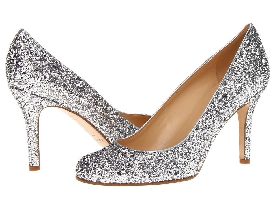 Kate Spade New York Karolina (Silver Glitter/Silver Metallic Nappa) Women's Slip-on Dress Shoes