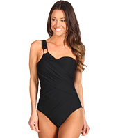 Spanx Swimwear - Whittle Waistline Draped Shoulder One Piece