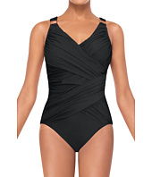 Spanx Swimwear - Whittle Waistline Draped One Piece