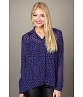 BCBGeneration - High-Low Hem Button Front Shirt
