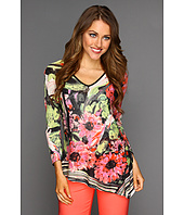 NIC+ZOE - Peek-A-Boo Striped Petals Top