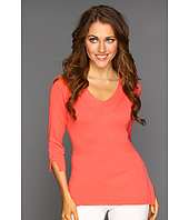 NIC+ZOE - Peek-A-Boo Easy V-Neck Top