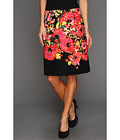 NIC+ZOE - Peek-A-Boo Floral Print Pencil Skirt