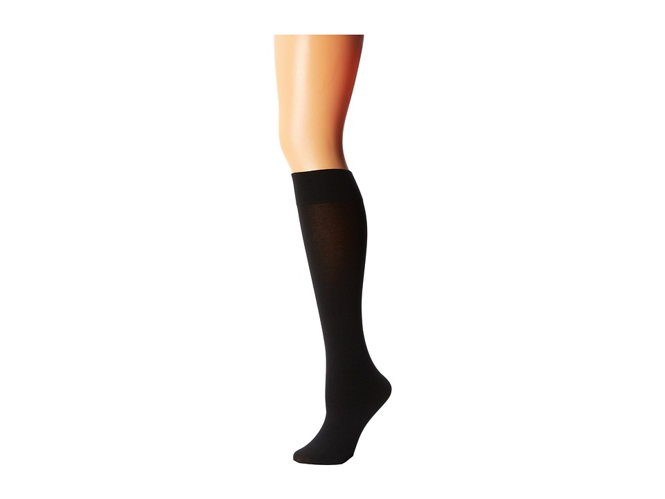 Wolford Cotton Velvet Knee-Highs (Black) Women's Knee Hig...