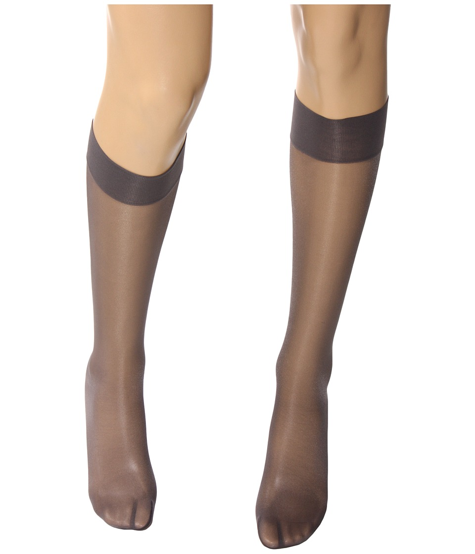 Wolford Satin Touch 20 Knee Highs Steel/Stealth Gray/Stealth Gray Womens Knee High Socks Shoes