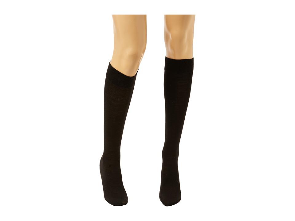 Wolford - Merino Knee-Highs (Black) Knee high Hose