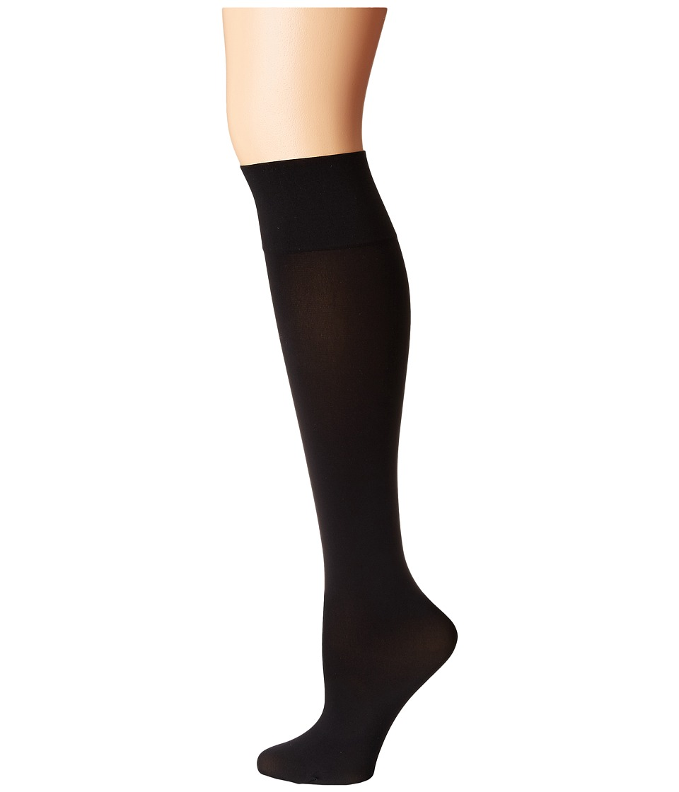 Wolford - Individual 50 Leg Support Knee-Highs (Black) Womens Knee High Socks Shoes