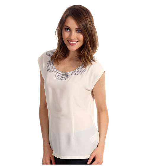 Nic+Zoe - Fresh Vintage Embroidered Top (Bone) - Apparel