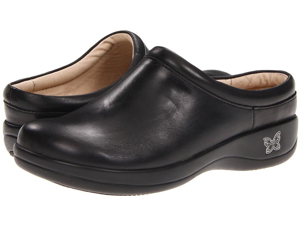 Alegria Kayla (Black Nappa Leather) Slip-On Shoes