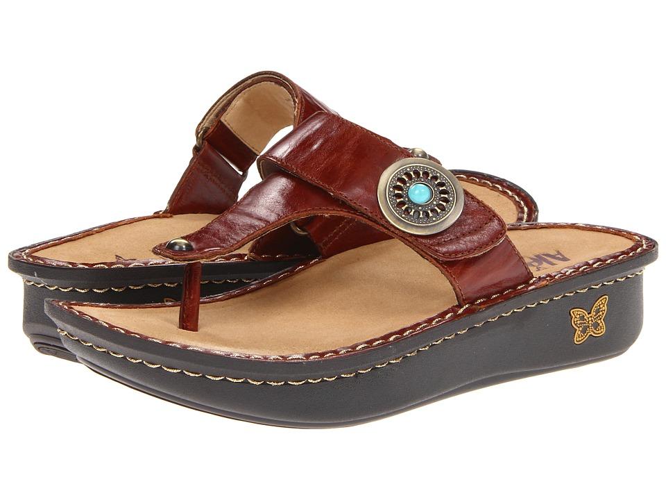 Alegria Carina Brown Pull Up Womens Sandals
