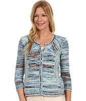 NIC+ZOE - Sand + Sea Textured Blues Cardy