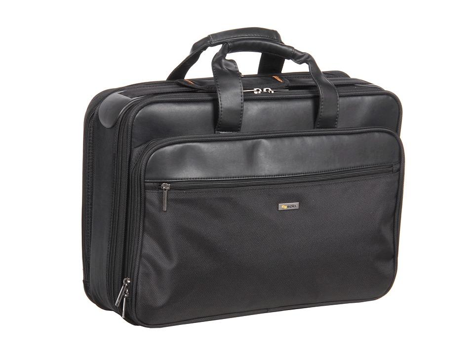 SOLO Classic 16 Smart Strap Briefcase (Black) Briefcase Bags