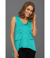 BCBGMAXAZRIA - Tiiu Woven Tank Top with Double Pockets