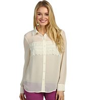 Kensie - Sheer Button Down Top