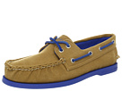 Sperry Top-Sider - A/O 2-Eye Canvas Pop (Tan/Blue) - Footwear