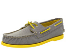 Sperry Top-Sider - A/O 2-Eye Canvas Pop (Grey/Yellow) - Footwear