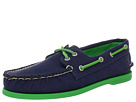Sperry Top-Sider - A/O 2-Eye Canvas Pop (Navy/Green)
