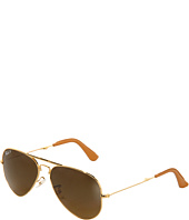 Ray-Ban - 18K Gold Folding Aviator 0RB3479 55