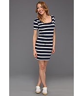 Lacoste - L!VE Half Sleeve Stripe Scoopneck Pique Dress