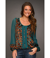 Lucky Brand - Wanderlust Velvet Burnout Top