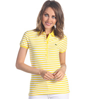 Lacoste - S/S 5 Button Stretch Pique Bi-Color Stripe Polo