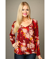 Lucky Brand - Rhiannon Printed Peasant Top