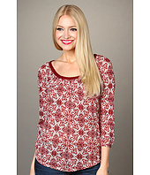 Lucky Brand - Deco Woodblock Ellie Top