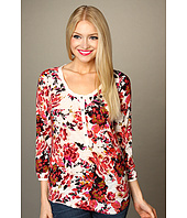 Lucky Brand - Painterly Rose Kara Top