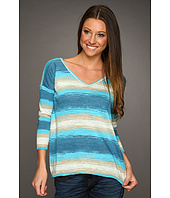Lucky Brand - Stacey V-Neck Space Dye
